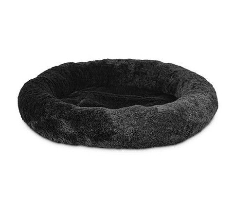 Luxury Coral Fleece Solid Memory Foam Dog Bed , Shredded Round Memory Foam Dog Bed